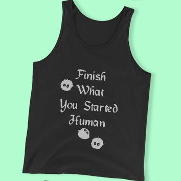 Finish What You Started Human Soot Sprites Totoro Nerdy Anime Men'S Tank Top