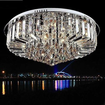 FRLED Modern LED Crystal Chandelier Light Lamp For Living Room Cristal Lustre Chandeliers Lighting Pendant Hanging Round Ceiling