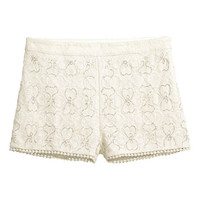 Beaded Lace Shorts - from H&M