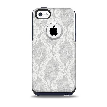 The White Floral Lace Skin for the iPhone 5c OtterBox Commuter Case