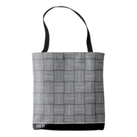 BW Basic Weave Monogram Tote Bag
