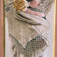 Counted Cross Stitch Kit by Lee Bogle, for Bucilla, The White Shawl, Lovely Lady with Shawl, Hard To Find » Craftori