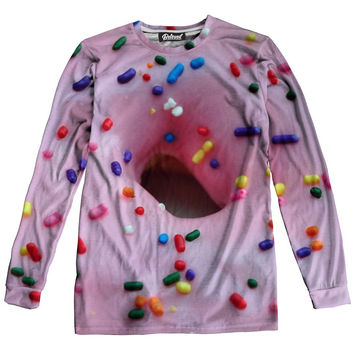 Pink Donut Long Sleeve Tee
