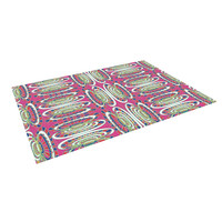 "Miranda Mol ""Bohemian Wild"" Pink Abstract Indoor / Outdoor Floor Mat"