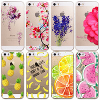 Soft TPU Phone Skin For Apple iPhone 5 5S Case Transparent Clear Back Case Cover