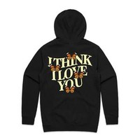 I Think I Love You Butterfly Hoodie - Black