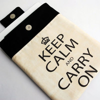 iPad Case - Keep Calm PADDED iPad Cover, iPad Sleeve by LilachOren