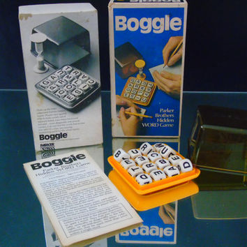 Vintage BOGGLE Hidden Word Game 1977 Parker Brothers Incomplete Missing Timer