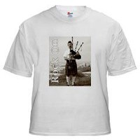 Bagpipes Rock On White T-Shirt> Bagpipes Rock On Short Sleeves> Cross Threads