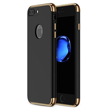iPhone 7 Plus Case, RANVOO Shockproof Electroplate Frame with Non Slip Coated Surface