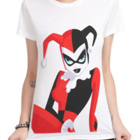 DC Comics Harley Quinn Large Print Girls T-Shirt