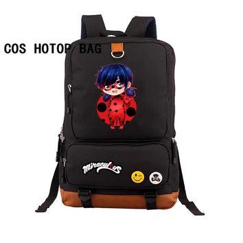 Anime Backpack School kawaii cute Miraculous Ladybug Backpack student School Bags Book Bag Miraculous Ladybug women men backpack 8 style AT_60_4