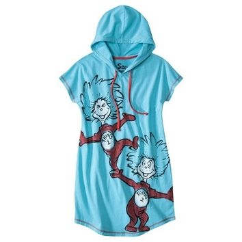 Dr. Seuss® Thing 1, Thing 2 Juniors Hooded Sleeptee - Turquoise