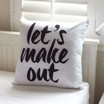Ankit Lets Make Out Pillow - Womens Scarves - White - One