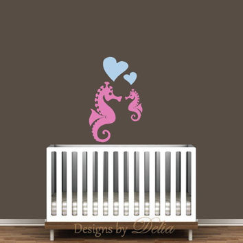 Seahorse Decal for Nursery, Children's Wall Art