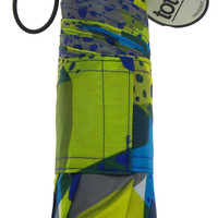 "Totes TRX Titan Umbrella Blue Green 47"" XL Water Sun Wind Protection Carabiner"