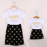 Mommy and Me Polka Dot Skirt Set