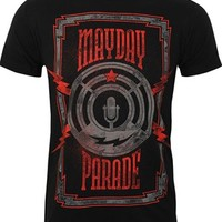 Mayday Parade Lightning Mic Men's Black T-Shirt - Buy Online at Grindstore.com