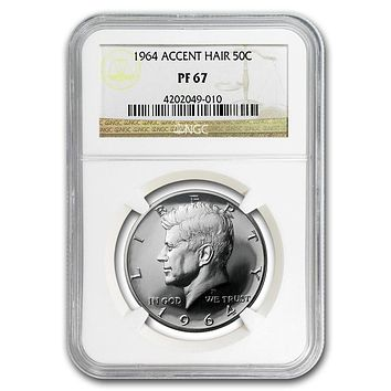 1964 Kennedy Half Dollar PF-67 NGC (Accented Hair)