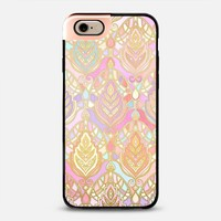 Rosy Opalescent Art Deco Pattern iPhone 6 case by Micklyn Le Feuvre | Casetify