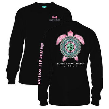 Simply Southern Preppy Boho Turtle Long Sleeve T-Shirt
