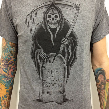 "Grim Reaper T-Shirt ""See You Soon"""