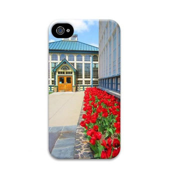 Colorful Architecture iphone 5 case, Conservatory, iphone 4 case, Red tulips, historical, unique iphone 4 case