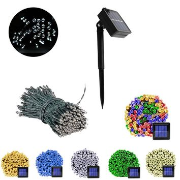 100 Led Solar String Light Outdoor Waterproof Garden 3 Mode Christmas Garland Led Solar Powered Lamp Fairy Light Valentines Gift
