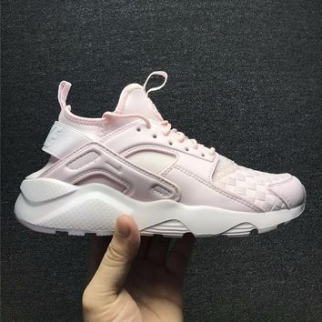 Best Online Sale Nike Air Huarache 1 Run Rainbow Ultra Breathe Women Light Pink Running Sport Casual Shoes Sneakers - 762826-884