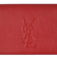Yves Saint Laurent YSL Belle De Jour Red Leather Clutch Bag 361120