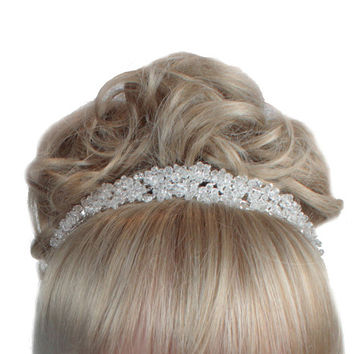 Crystal Wedding Tiara, Bridal Tiara, Brides Tiara, Wedding Headdress