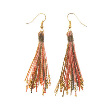 Tassel Earring with Beads
