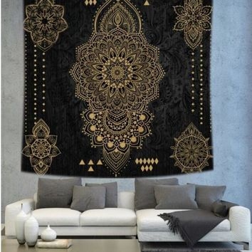 Cilected Indian Mandala Tapestry Wall Hanging Home Decor Wall Art Tapestry Psychedelic Yoga Mat Blanket Bedding Beach Bedspreads