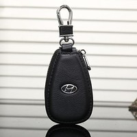HYUNDAI Fashion Leather Zipper Car Key Wallet Case Cover