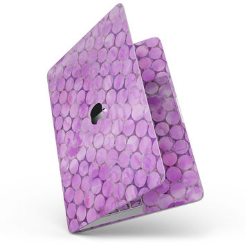 Purple Sorted Large Watercolor Polka Dots - MacBook Pro without Touch Bar Skin Kit