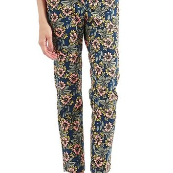 Women's Topshop Floral Print High Rise Cigarette Trousers,