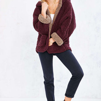 Ecote Fuzzy Reversible Jacket - Urban From Urban Outfitters