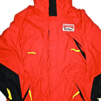 Vintage 90s Marlboro Adventure Team Parka Jacket Mens Size Large