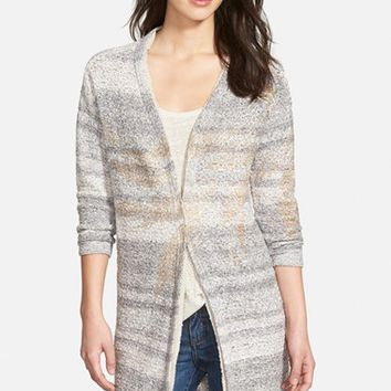 Women's NIC+ZOE 'Foiled Leaves' Long Cardigan,