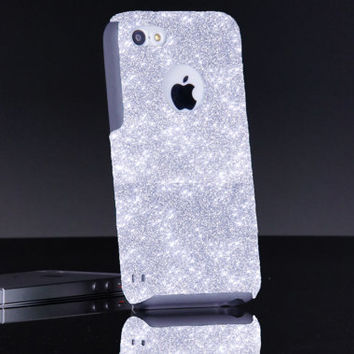 Otterbox iPhone 5c/6 Case Glitter Commuter Silver iPhone 5c/6 Custom Otterbox Sparkly Cute Glitter Case