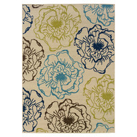Wildon Home ® Hickory Hill Floral Ivory Indoor/Outdoor Area Rug
