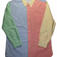 Vintage 90s Fresh Prince of Bel Air Style Button Down Shirt Mens Size XL