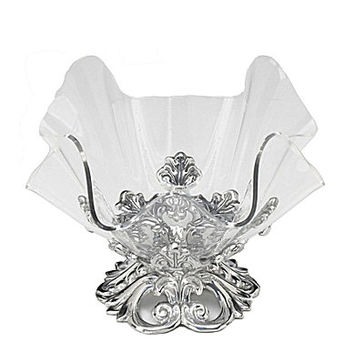 Arthur Court Small Fleur-de-Lis Stand with Acrylic Bowl