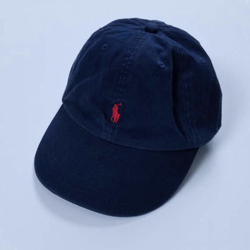 Vintage Polo by Ralph Lauren Navy Blue Strapback Hat