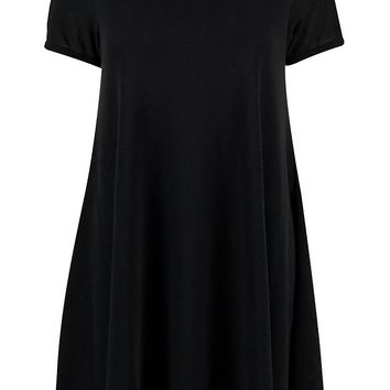 Camilla Fine Knit Short Sleeve Swing Dress | Boohoo