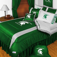 NCAA Michigan State Spartans Bedding College Football Bed: Full