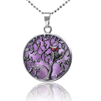 Tree of Life Round Flat Beads Pendant Jewelry