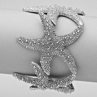 Silver Starfish Stretch Bracelet