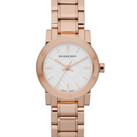 Burberry Watch, Women's Swiss Rose Gold-Tone Stainless Steel Bracaelet 27mm BU9204