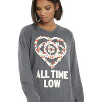 All Time Low Floral Girls Crewneck Pullover